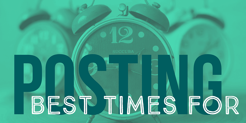 Best times for posting on social media, image of three time clocks
